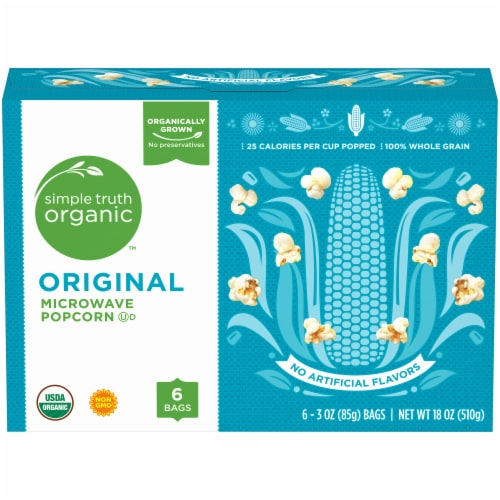 Simple Truth Organic™ Original Microwave Popcorn Perspective: front