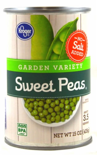 Kroger® No Salt Added Garden Variety Sweet Peas Perspective: front