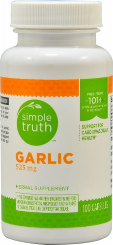 Simple Truth™ Garlic Supplement Capsules 525 mg Perspective: front