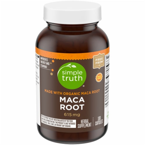 Simple Truth® Maca Root Capsules 615mg Perspective: front