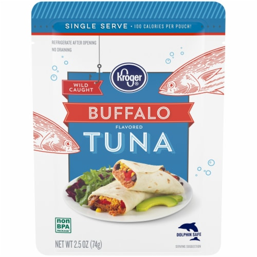 Kroger® Wild Caught Buffalo Flavored Tuna Pouch Perspective: front
