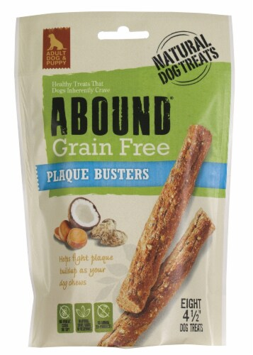 Abound® Grain Free Plaque Busters Adult Dog Treats Perspective: front