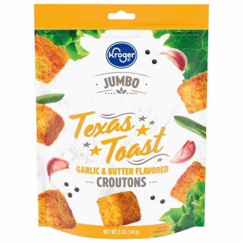 Kroger® Jumbo Garlic & Butter Flavored Texas Toast Croutons Perspective: front