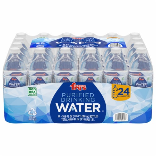 Fry's® Purified Drinking Water Perspective: front