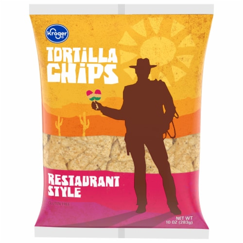 Kroger® Restaurant Style Yellow Tortilla Chips Perspective: front