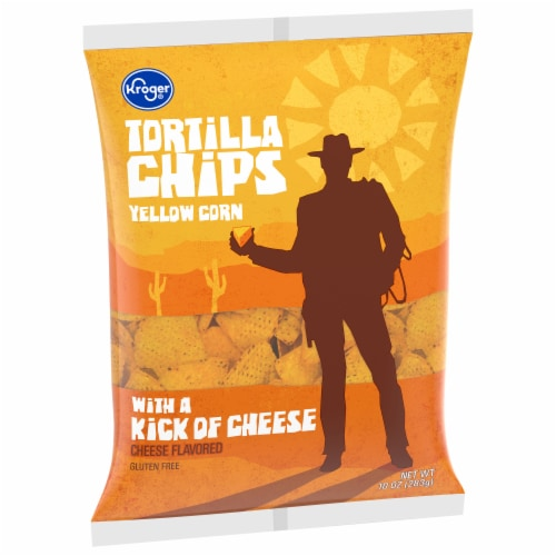 Kroger® Nacho Cheese Flavored Corn Tortilla Chips Perspective: front