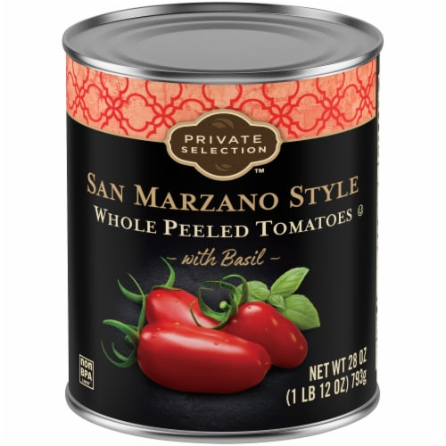 Private Selection™ San Marzano Peeled Whole Plum Tomatoes with Basil Perspective: front