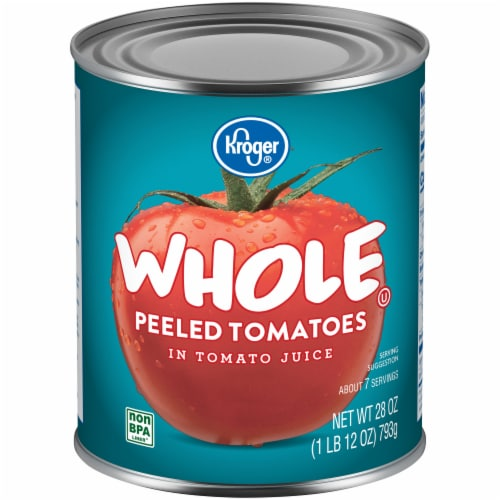 Kroger® Whole Peeled Tomatoes in Tomato Juice Perspective: front