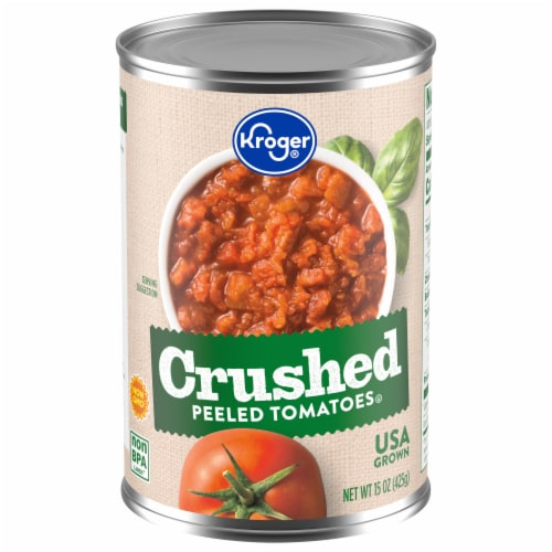 Kroger® Crushed Peeled Tomatoes in Tomato Puree Perspective: front