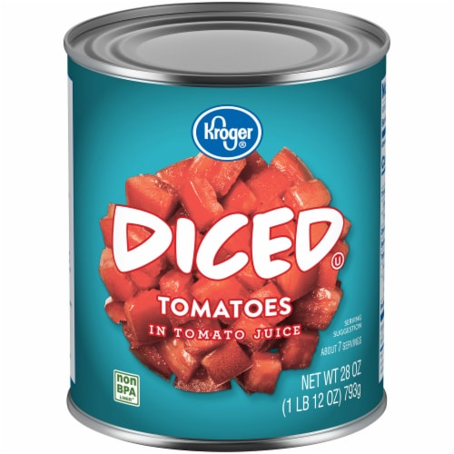Kroger® Diced Tomatoes in Tomato Juice Perspective: front