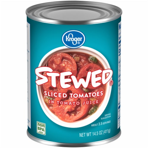 Kroger® Stewed Sliced Tomatoes in Tomato Juice Perspective: front