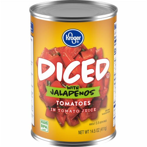 Kroger® Diced Tomatoes with Jalapenos Perspective: front