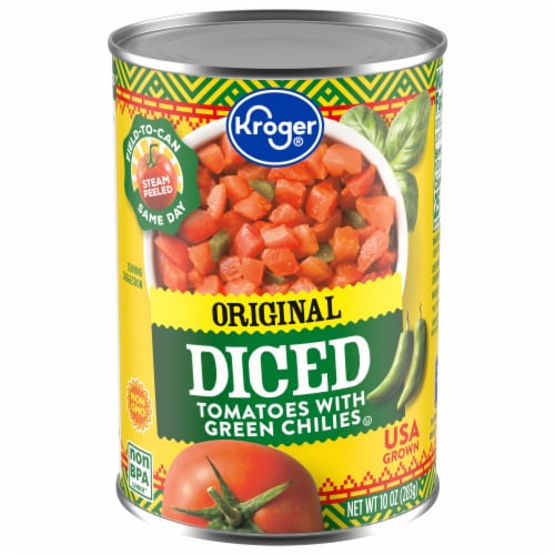 Kroger® Diced Tomatoes with Green Chilies Perspective: front