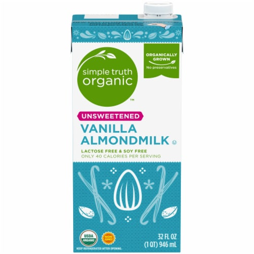 Simple Truth Organic™ Unsweetened Vanilla Almond Milk Perspective: front