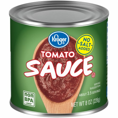 Kroger® No Salt Added Tomato Sauce Perspective: front