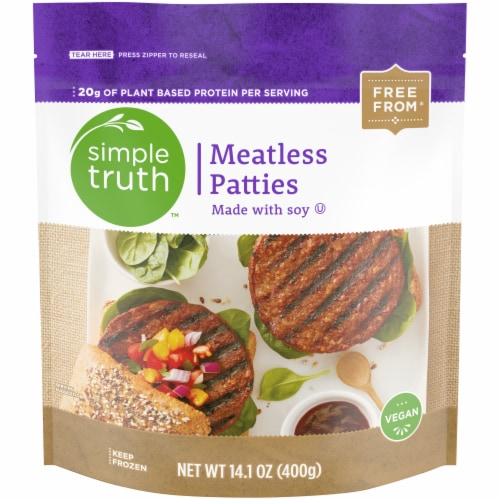 Simple Truth™ Vegan Meatless Burger Patties Perspective: front