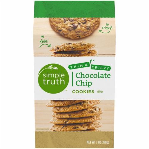 Simple Truth™ Thin & Crispy Chocolate Chip Cookies Perspective: front
