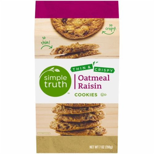 Simple Truth™ Thin & Crispy Oatmeal Raisin Cookies Perspective: front