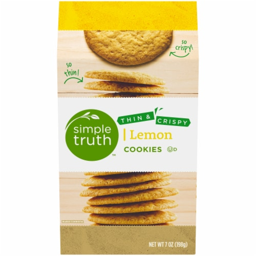 Simple Truth™ Thin & Crispy Lemon Cookies Perspective: front