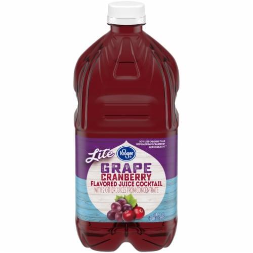 Kroger® Lite Grape Cranberry Flavored Juice Cocktail Perspective: front