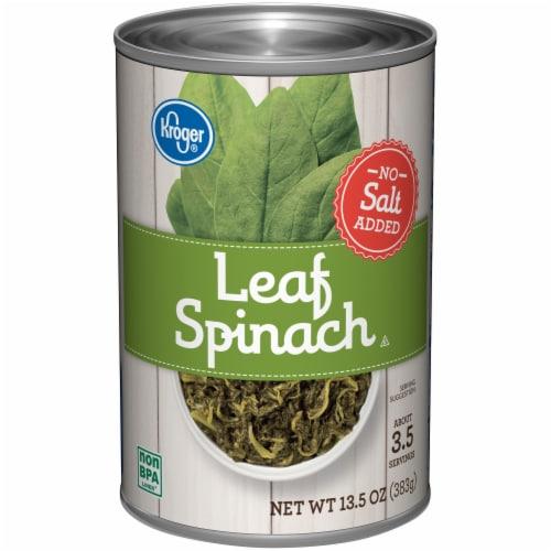 Kroger® No Salt Added Leaf Spinach Perspective: front