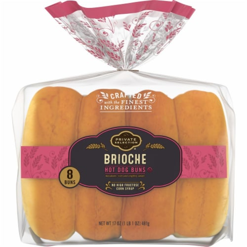 Private Selection® Brioche Hot Dog Buns Perspective: front