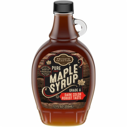 Private Selection® 100% Pure Grade A Dark Color Robust Taste Maple Syrup Perspective: front