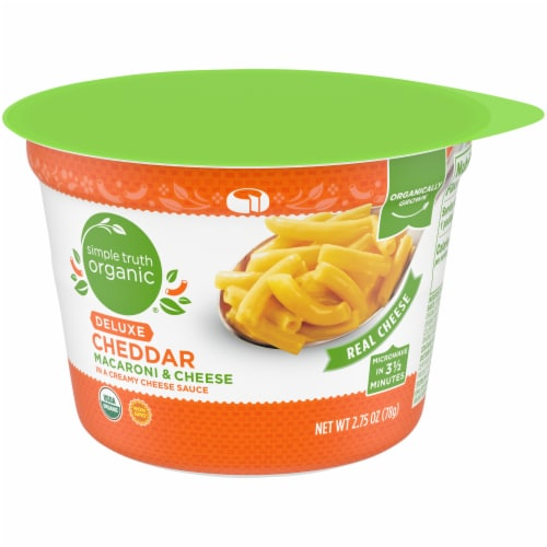 Simple Truth Organic® Deluxe Macaroni & Cheese Cup Perspective: front