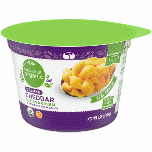 Simple Truth Organic® Deluxe Cheddar Shells & Cheese Cup Perspective: front