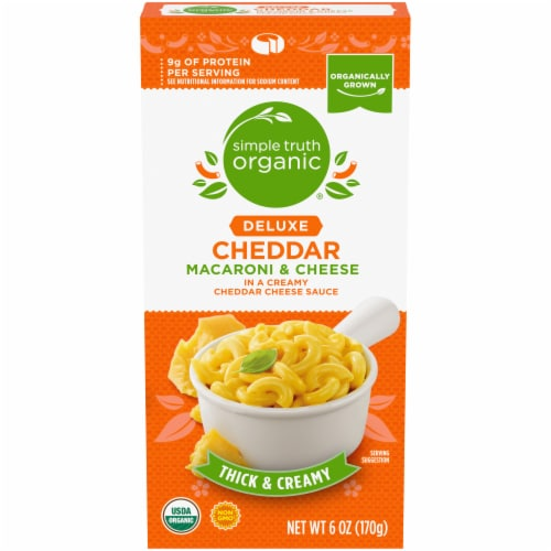 Simple Truth Organic™ Deluxe Cheddar Macaroni & Cheese Perspective: front