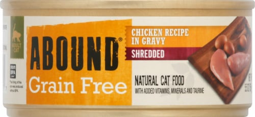 Abound® Grain Free Shredded Chicken Recipe in Gravy Natural Cat Food Perspective: front