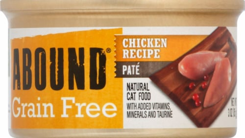 Abound® Grain Free Chicken Pate Adult Wet Cat Food Perspective: front