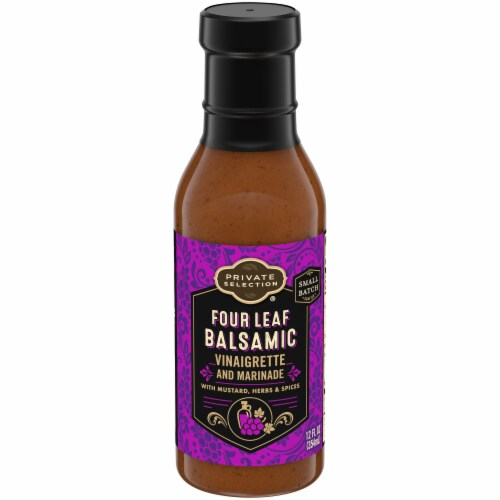 Private Selection® Four Leaf Balsamic Vinaigrette and Marinade Perspective: front