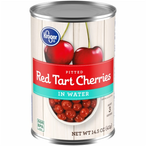 Kroger® Pitted Red Tart Cherries in Water Perspective: front