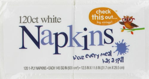 Check This Out™ White Napkins Perspective: front