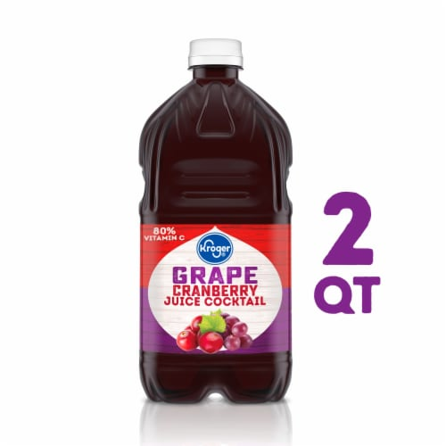 Kroger® Grape Cranberry Juice Cocktail Perspective: front
