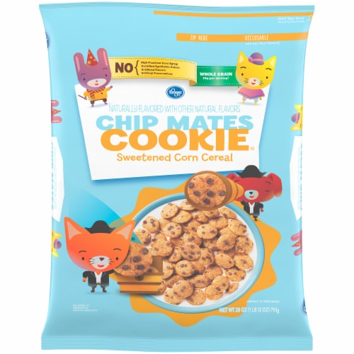 Kroger® Chip Mates Cookie Sweetened CornCereal Perspective: front