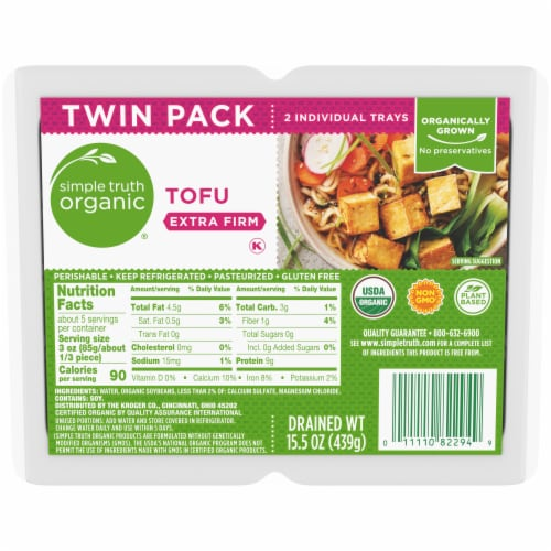 Simple Truth Organic® Extra Firm Tofu Twin Pack Perspective: front