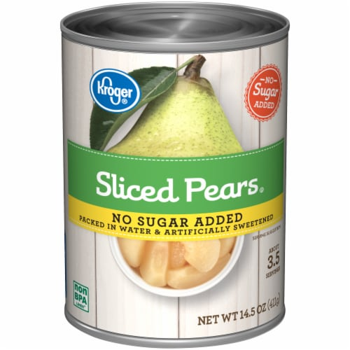 Kroger® No Sugar Added Sliced Pears Perspective: front