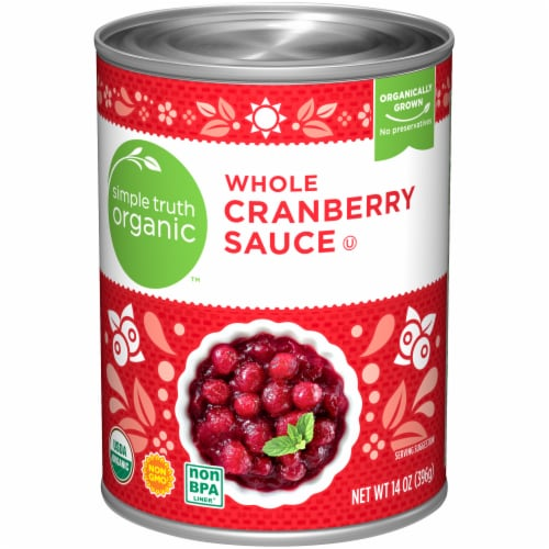 Simple Truth Organic™ Whole Cranberry Sauce Perspective: front