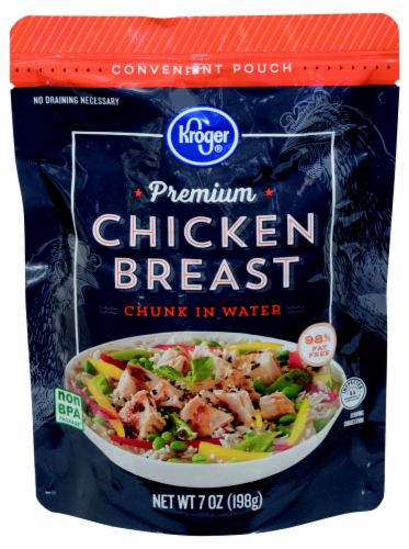 Kroger® Premium Chicken Breast Chunk in Water Pouch Perspective: front