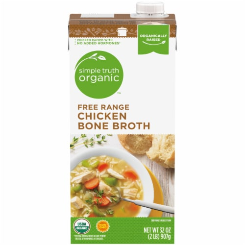 Simple Truth Organic™ Free Range Chicken Bone Broth Perspective: front
