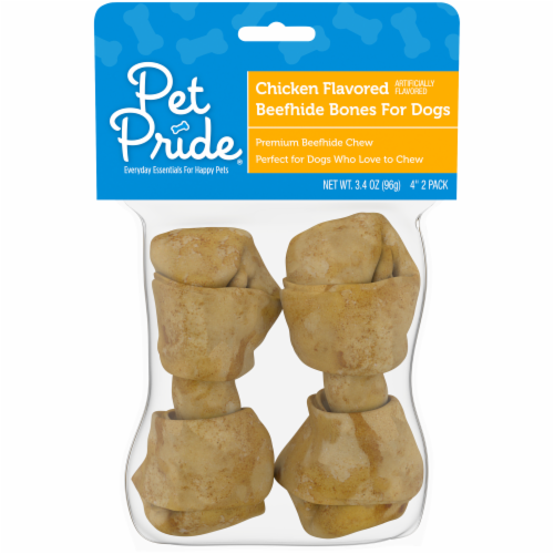 Pet Pride® Chicken Flavored Beefhide Dog Bones Perspective: front