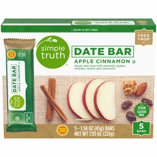Simple Truth™ Apple Cinnamon Chewy Date Bars 5 Count Perspective: front