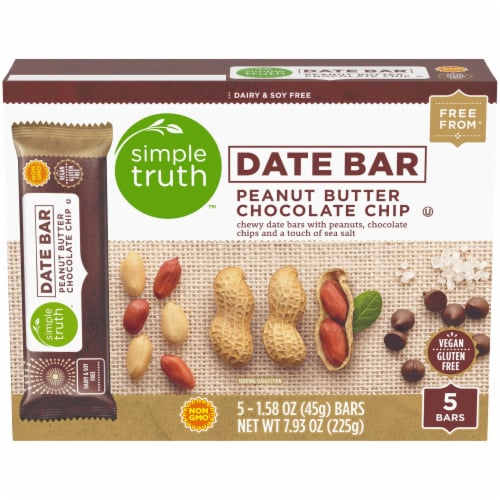 Simple Truth™ Peanut Butter Chocolate Chip Date Bars Perspective: front