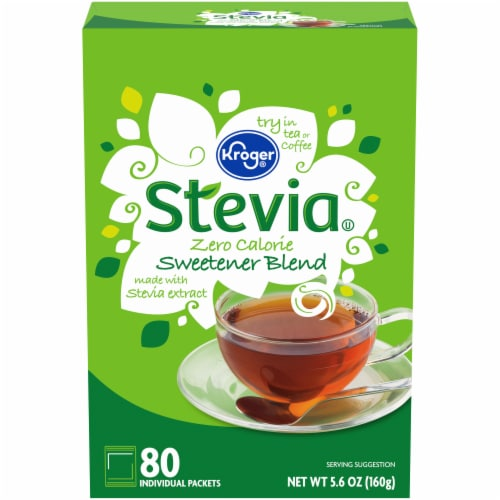 Kroger® Stevia Zero Calorie Sweetener Packets Perspective: front