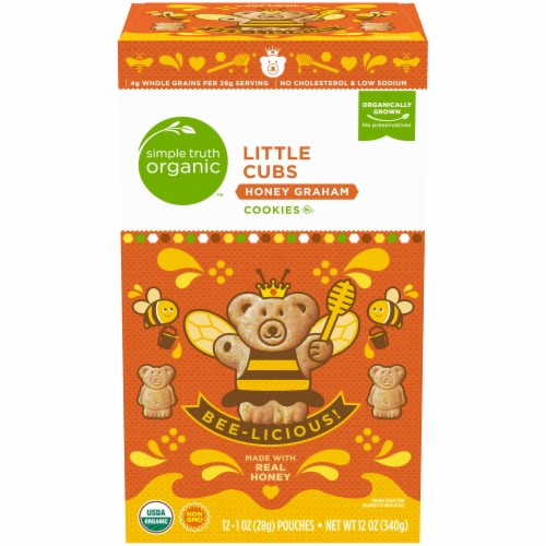 Simple Truth Organic™ Little Cubs Honey Graham Cookies Perspective: front
