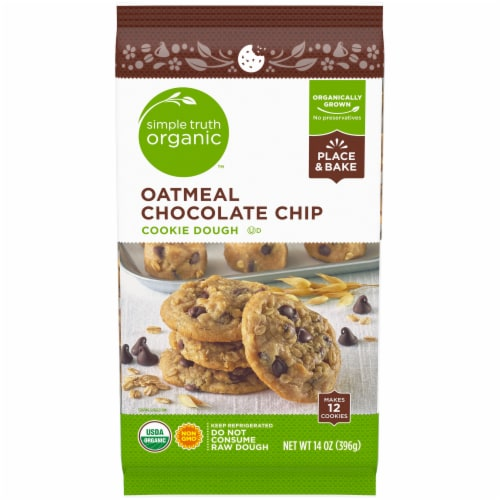 Simple Truth Organic™ Oatmeal Chocolate Chip Cookie Dough Perspective: front