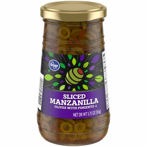 Kroger® Sliced Manzanilla Olives with Pimiento Perspective: front