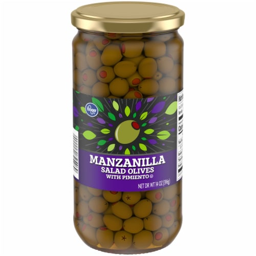 Kroger® Manzanilla Salad Olives with Pimiento Perspective: front